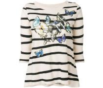 floral striped jumper