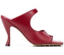 Sandalen mit eckiger Kappe, 90mm