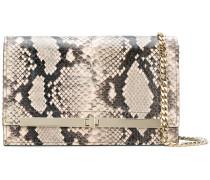 snake-effect clutch bag
