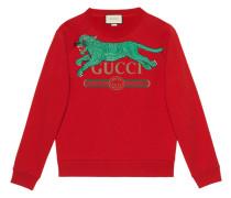 Sweatshirt mit Tiger-Stickerei