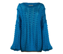 Oversized-Pullover mit Pompons