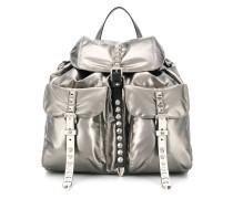 stud detail coated backpack