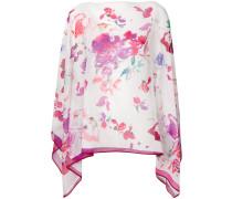 floral print handkerchief hem top
