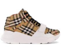 Flatform-Sneakers mit Nova-Check