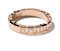 18kt 'Ice Cube' Rotgoldring