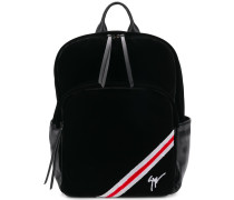 tri-stripe velvet backpack