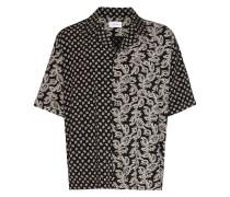 bandana print bowling shirt