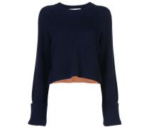 Cropped-Pullover mit Streifen