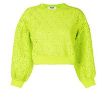 Sweatshirt mit Lochstickerei