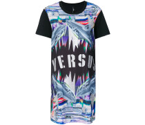 T-Shirt-Kleid mit Auto-Print