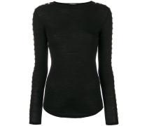 Pullover mit geknöpften Ärmeln