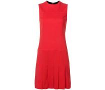 Kleid mit plissiertem Saum