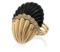'Shell' Ring mit Diamanten