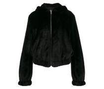 teddy hood faux fur jacket