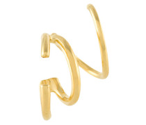 Vergoldeter 'Bella Twirl' Sterlingsilber-Ohrring