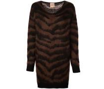 Pulloverkleid mit Zebrastreifen