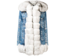 fur trim denim jacket