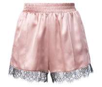 'Margo' Seiden-Shorts mit Spitzenbesatz