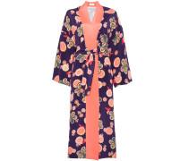 Seidenkleid in Kimono-Optik