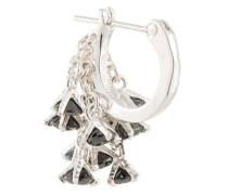 E.M. crystal pendant earring