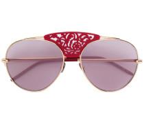 laser cut aviator sunglasses