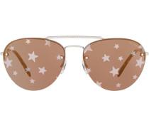 Sonnenbrille mit Sternen-Print