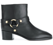 ring detail ankle boots