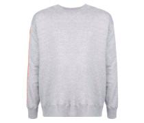 Sweatshirt mit gestreiften Ärmeln