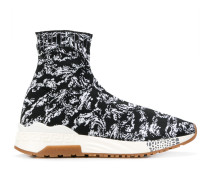 Sock-Sneakers mit Barock-Print