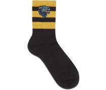 Socken mit Wolf-Motiv