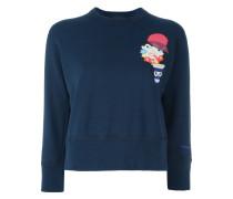 Cropped-Sweatshirt mit Print
