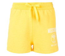 logo print track shorts