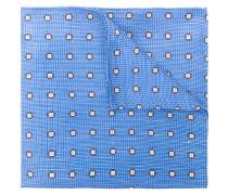 woven texture floral handkerchief