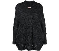 Oversized-Pullover aus Woll-Baumwollgemisch
