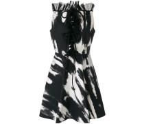 lace-up ruffled dress