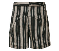 striped garter shorts