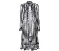 Kariertes Kleid mit Rüschen