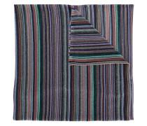 Glitzernder Schal mit Streifen