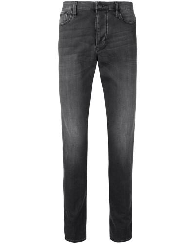 Gerade Jeans mit ausgeblichenem Effekt