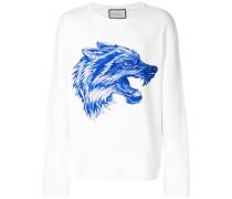 Sweatshirt mit Wolfmotiv