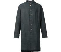 Kragenloser Mantel mit Reißverschluss