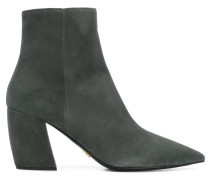 pointed toe chunky heel boots
