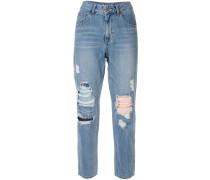 Gerippte Mom-Jeans