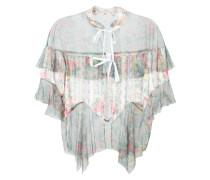 Florale Bluse mit semi-transparentem Design