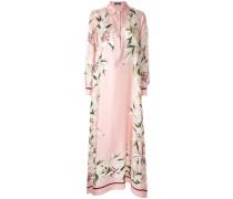 Asymmetrisches Kleid mit Lilien-Print
