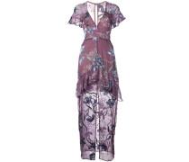 orchid V-neck dress