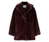 Oversized-Jacke mit Faux Fur