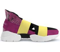 'City Up' Sneakers mit Pythonledereinsatz