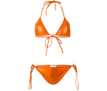 Triangel-Bikini im Metallic-Look