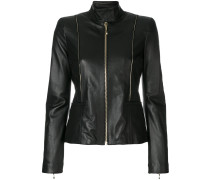 fitted piped jacket